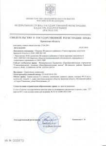 свидетельство о государственной регистрации права 1